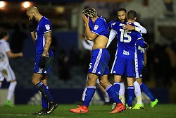 Birmingham City's Ryan Shotton (right) shows his dejection after the final whistle
