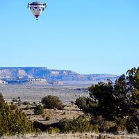 020915  Adron Gardner/Independent<br /> <br /> A hot air balloon takes flight near Superman Canyon Monday.