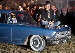 June 22, 2017 - Glastonbury, United Kingdom -  22/06/2017. Glastonbury, United Kingdom. Johnny Depp arriving at  the Cinemageddon  film festival  to present his new film The Libertine  at the Glastonbury Festival, United Kingdom.  (Credit Image: © i-Images via ZUMA Press)