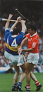 Tipperary's Michael Ryan and Cork's Ger Fitzgerald clash in the 1991 Munster Final.