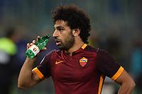 Mohamed Salah Roma drinks water <br /> Roma 11-04-2016 Stadio Olimpico Football Calcio Serie A 2015/2016 AS Roma - Bologna Foto Andrea Staccioli / Insidefoto