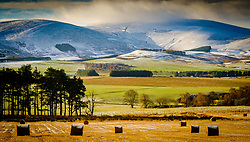 Snow clouds over Tinto Hill in South Lanarkshire Scotland on a cold winter morning.<br /> <br /> (c) Andrew Wilson   Edinburgh Elite media