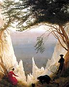 Moonrise Over the Sea (1822), by Caspar David Friedrich (1774 – 1840), German Romantic landscape painter