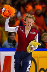 05-01-2003 NED: Europees Kampioenschappen Allround, Heerenveen<br /> Renate Groenewold pakt de bronze medaille