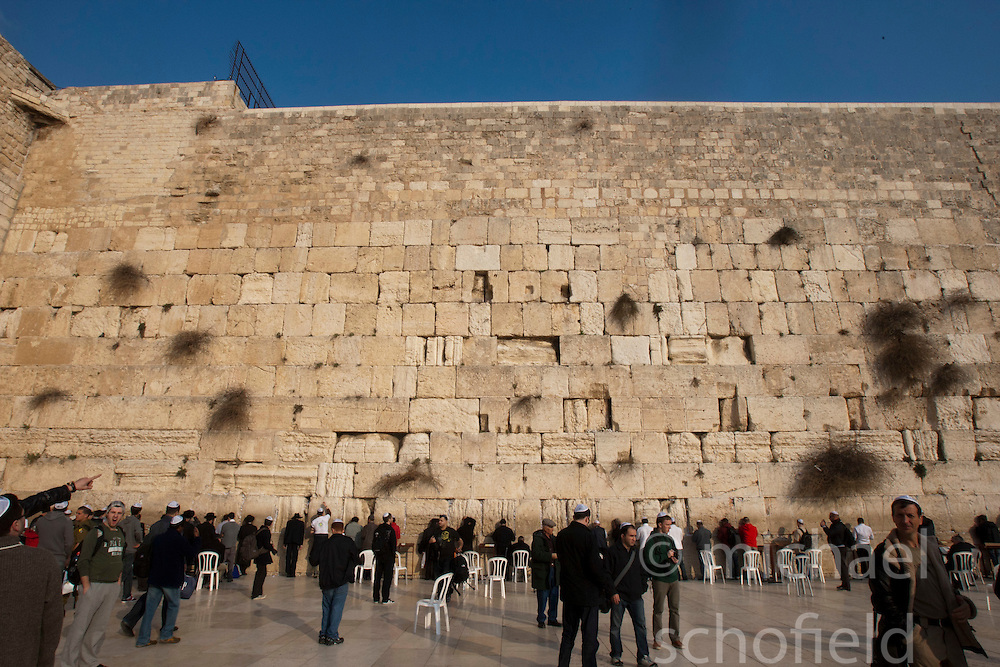 The Western Wall, located in the Old City of Jerusalem at the foot of the western side of the Temple Mount, Jerusalem. Train & Travel is a unique ten day program designed for IKMF's instructors, students & guests, interested in combining Krav Maga training with a tour of the holy land, Tuesday 4th Jan, 2011. .©2011 Michael Schofield. All Rights Reserved.