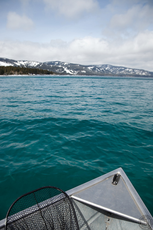 """""""Fishing Boat on Lake Tahoe 2"""" - This fishing boat and net were photographed on the west shore Lake Tahoe, CA."""