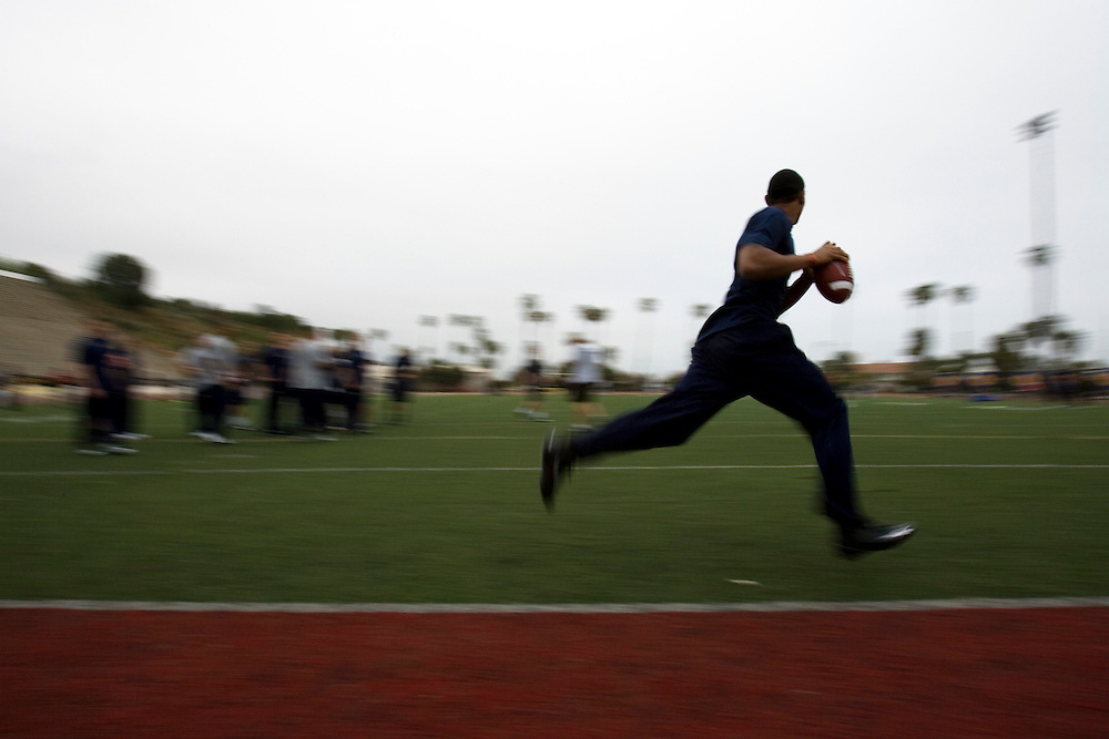 Terelle Pryor works out at Steve Clarkson's quarterback camp.