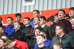 South stand, first half.  <br /> Falkirk 1 v 0 Morton, Scottish Championship game  played 1/5/2016 at The Falkirk Stadium. Pics by Ross Schofield.