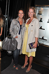 Left to right, TAMARA FOGLE and MARINA FOGLE  at a private view of jewellery and photographs by Rosie Emerson and Annoushka Ducas entitled Alchemy in association with Ruinart Champagne held at Annoushka, 41 Cadogan gardens, London SW3 on 15th September 2011.