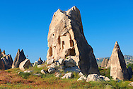 Fairy chimney tuff rock pillars formations of  Goreme, Cappadocia, Turkey .<br /> <br /> If you prefer to buy from our ALAMY PHOTO LIBRARY  Collection visit : https://www.alamy.com/portfolio/paul-williams-funkystock/cappadociaturkey.html (TIP refine search - type which part of Cappadocia into the LOWER search box)<br /> <br /> Visit our TURKEY PHOTO COLLECTIONS for more photos to download or buy as wall art prints https://funkystock.photoshelter.com/gallery-collection/3f-Pictures-of-Turkey-Turkey-Photos-Images-Fotos/C0000U.hJWkZxAbg