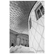 British Museum Rotunda Stairwell - London UK - Black & White