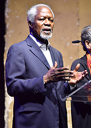 Kofi Annan on stage at the Global Citizen Live event held at the 02 Brixton Academy, London.