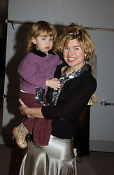 BARONESS ISSY VAN RANDWYCK and her daughter MISS GEORGIA HALL  at a party hosted American House and Garden magazine with Tomasz Starzewski and Nina Campbell to celebrate the British Issue of the magazine, held at 14 Stanhope Mews West, London SW7 on 13th March 2005.<br />