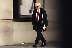November 4, 2018 - London, London, UK - London, UK. Shadow Chancellor John McDonnell arrives at BBC Broadcasting House. (Credit Image: © Rob Pinney/London News Pictures via ZUMA Wire)