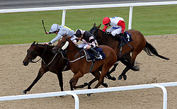 Auspicion ridden by Andrew Mullen (left) before winning the Betfred 'Supports Jack Berry House' Handicap during the Betfred Northumberland Plate Day at Newcastle Racecourse.