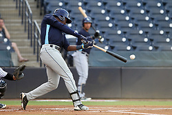May 28, 2018 - Tampa, FL, U.S. - TAMPA, FL - MAY 23: Jesus Sanchez (4) of the Stone Crabs at bat during the Florida State League game between the Charlotte Stone Crabs and the Tampa Tarpons on May 23, 2018, at Steinbrenner Field in Tampa, FL. (Photo by Cliff Welch/Icon Sportswire) (Credit Image: © Cliff Welch/Icon SMI via ZUMA Press)