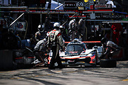 March 15-17, 2018: Mobil 1 Sebring 12 hour. 7 Acura Team Penske, Acura DPi,Helio Castroneves, Graham Rahal, Ricky Taylor pitstop
