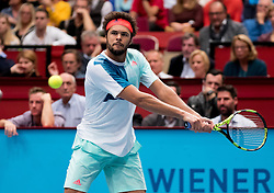 29.10.2016, Stadthalle, Wien, AUT, ATP Tour, Erste Bank Open, Halbfinale, im Bild Jo Wilfried Tsonga (FRA) // Jo Wilfried Tsonga of France during the semifinal match of Erste Bank Open of ATP Tour at the Stadthalle in Vienna, Austria on 2016/10/29. EXPA Pictures © 2016, PhotoCredit: EXPA/ Sebastian Pucher
