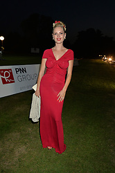 ANOUSKA DE GEORGIOU at the Chovgan Twilight Polo Gala in association with the PNN Group held at Ham Polo Club, Petersham Close, Richmond, Surrey on 10th September 2014.
