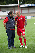 Billy Osman Mehmet. Northern Cyprus 3 v Padania 2 during the Conifa Paddy Power World Football Cup semi finals on the 7th June 2018 at Carshalton Athletic Football Club in the United Kingdom. The CONIFA World Football Cup is an international football tournament organised by CONIFA, an umbrella association for states, minorities, stateless peoples and regions unaffiliated with FIFA.