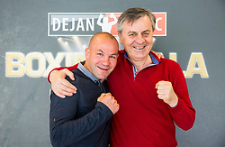 Dejan Zavec and Tadija Kačar pose during Official weighting ceremony one day before Dejan Zavec Boxing Gala event in Laško, on April 20, 2017 in Thermana Lasko, Slovenia. Photo by Vid Ponikvar / Sportida