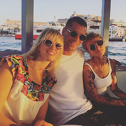 """Karolina Kurkova releases a photo on Instagram with the following caption: """"The Czech-Slovak crew in #ibiza #kkstyle #KKtravel @nike @nike_cz_official"""". Photo Credit: Instagram *** No USA Distribution *** For Editorial Use Only *** Not to be Published in Books or Photo Books ***  Please note: Fees charged by the agency are for the agency's services only, and do not, nor are they intended to, convey to the user any ownership of Copyright or License in the material. The agency does not claim any ownership including but not limited to Copyright or License in the attached material. By publishing this material you expressly agree to indemnify and to hold the agency and its directors, shareholders and employees harmless from any loss, claims, damages, demands, expenses (including legal fees), or any causes of action or allegation against the agency arising out of or connected in any way with publication of the material."""