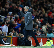 Jose Mourinho manager of Manchester United reacts during the English Premier League match at Old Trafford Stadium, Manchester. Picture date: April 4th 2017. Pic credit should read: Simon Bellis/Sportimage