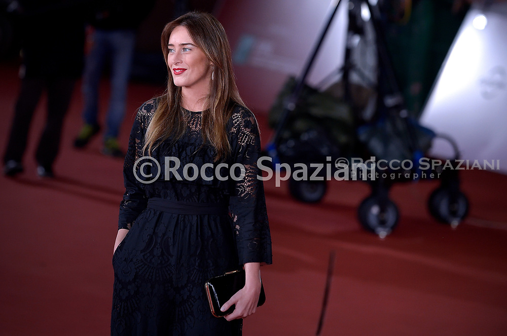 """ROME, ITALY - OCTOBER 21: Maria Elena Boschi  attends """"The Irishman"""" red carpet during the 14th Rome Film Festival on October 21, 2019 in Rome, Italy."""