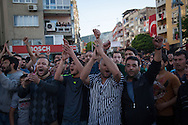 Demonstrators in Soma, western Turkey raise questions about the safety record of the mine and the way in which it was run.