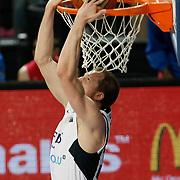 Efes Pilsen's Sinan GULER during their Turkish Basketball league match Efes Pilsen between Banvit at the Sinan Erdem Arena in Istanbul Turkey on Saturday 02 April 2011. Photo by TURKPIX