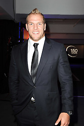 Rugby player JAMES HASKELL at a party to celebrate 150 years of TAG Heuer held at the car park at Selfridge's, London on 15th September 2010.