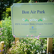 Sign for Bon Air Park in Arlington, Virginia.