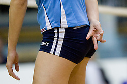 Sing for serve during volleyball match between Calcit Volleyball and A. Linz-Steg in Mevza league on October 23, 2010 at Sport Halli, Kamnik, Slovenia. (Photo By Matic Klansek Velej / Sportida.com)