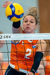 Fleur Savelkoel of Netherlands in action during the Women's friendly match between Netherlands and Belgium at Sporthal De Basis on may 19, 2021 in Sliedrecht, Netherlands (Photo by RHF Agency/Ronald Hoogendoorn)