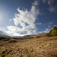 Clouds over the langdales, Lake District, Cumbria, UK
