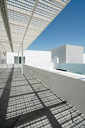 Exterior view of the Louvre Abu Dhabi at Saadiyat Island Cultural District in Abu Dhabi, UAE. Architect Jean Nouvel
