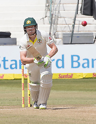 Durban. 030318. David Warner Australia during day 3 of the 1st Sunfoil Test match between South Africa and Australia at Sahara Stadium Kingsmead on March 03, 2018 in Durban, South Africa.