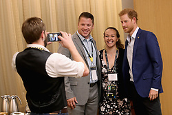 September 22, 2017 - Toronto, Canada - Image licensed to i-Images Picture Agency. 22/09/2017. Toronto, Canada . Prince Harry at  the True Patriot Love Symposium  in Toronto, Canada, on the eve of the start of the  Invictus Games. Picture by Pool / i-Images (Credit Image: © Pool/i-Images via ZUMA Press)