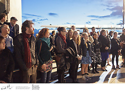 Staff and crew of the New Zealand International Arts Festival welcome local and international artists to Wellington at a traditional powhiri / dawn ceremony.