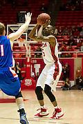 University of Utah vs Boise State Mens Basketball. ..Photo by  Nathan Sweet / Utah Athletics..