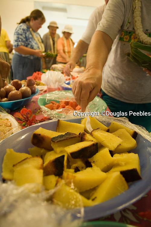 Feast, Aitu Island, Cook Islands, Polynesia