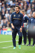 Tottenham Hotspur Manager Mauricio Pochettino looks on from the technical area. Premier league match, Stoke City v Tottenham Hotspur at the Bet365 Stadium in Stoke on Trent, Staffs on Saturday 10th September 2016.<br /> pic by Chris Stading, Andrew Orchard sports photography.