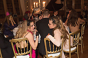 TALLULAH PALFREYMAN; LUCY ORR-EWING;, Ball at to celebrateBlanche Howard's 21st and  George Howard's 30th  birthday. Dress code: Black Tie with a touch of Surrealism. Castle Howard. Yorkshire. 14 November 2015