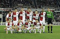 Fotball<br /> Tsjekkia<br /> 29.08.2007<br /> Slavia Praha v Ajax<br /> Kvalifisering UEFA Champions League<br /> Foto: Pavel Lebeda/Digitalsport<br /> <br /> Lagbilde Slavia Praha<br /> Slavia Prag - down from left: Michal Svec, Stanislav Vlcek, David Kalivoda, Vladimir Smicer    up from left: Matej Krajcik, Marek Suchy, Petr Janda, Erich Brabec, Frantisek Drizdal, Mickael Tavares, Martin Vaniak