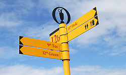 General view of signage during preview day four of The Open Championship 2018 at Carnoustie Golf Links, Angus. PRESS ASSOCIATION Photo. Picture date: Wednesday July 18, 2018. See PA story GOLF Open. Photo credit should read: Richard Sellers/PA Wire. RESTRICTIONS: Editorial use only. No commercial use. Still image use only. The Open Championship logo and clear link to The Open website (TheOpen.com) to be included on website publishing.