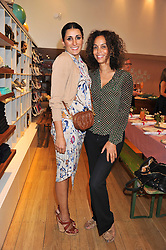 Left to right, SERENA REES and JEANETTE CALLIVA at a ladies lunch in aid of Mothers4Children hosted by Carmelbabyandchild at 259 Pavillion Road, London SW1 on 30th June 2011.