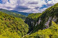 Martvili Canyon landscape landmark of Samegrelo-Zemo Svaneti region Georgia eastern Europe