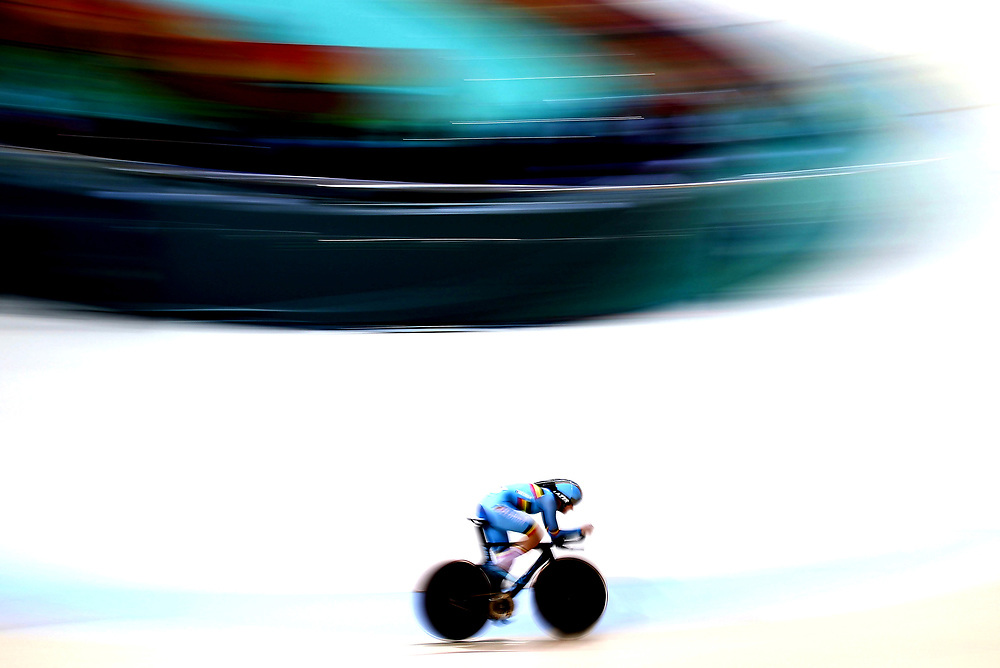 RIO DE JANEIRO, BRAZIL - AUGUST 15:  Jolien D'Hoore of Belgium competes in the Cycling Track Women's Omnium Individual Pursuit 2\6 on Day 10 of the Rio 2016 Olympic Games at the Rio Olympic Velodrome on August 15, 2016 in Rio de Janeiro, Brazil.  (Photo by Elsa/Getty Images)