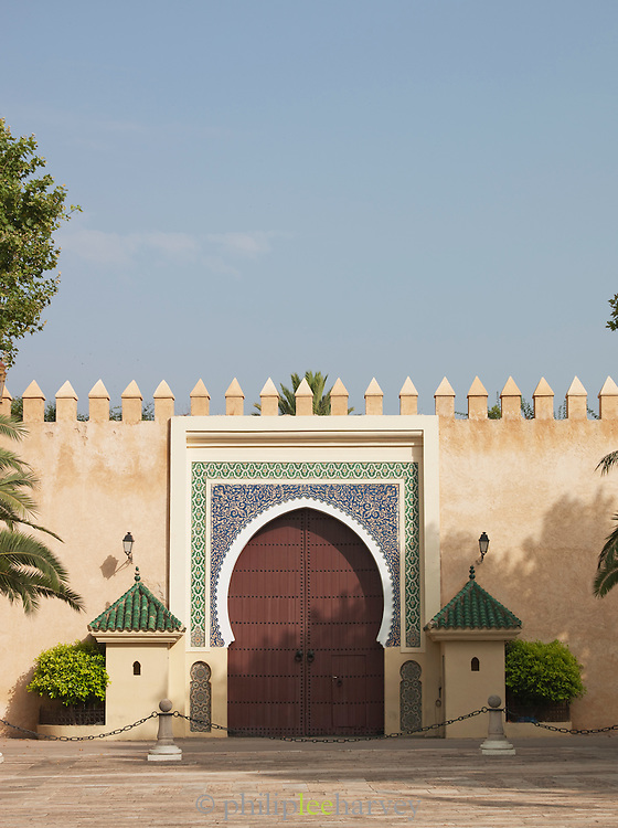 An entrance gate to the Royal Palace in Fes, Morocco