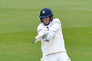 Sam Northeast of Hampshire attacks while batting during the first day of the Specsavers County Champ Div 1 match between Hampshire County Cricket Club and Essex County Cricket Club at the Ageas Bowl, Southampton, United Kingdom on 5 April 2019.